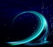 Turquoise wave. Taken on june 6 , 2009 royalty free illustration