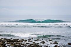 Turquoise wave in Sumbawa Stock Photo