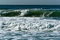 Turquoise waves in Mediterranean sea Stock Photography