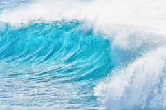 Turquoise waves at Sandy Beach, Hawaii Royalty Free Stock Images