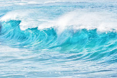 Turquoise waves at Sandy Beach, Hawaii Stock Photo