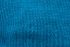 Turquoise weaved cloth of wool Royalty Free Stock Photography