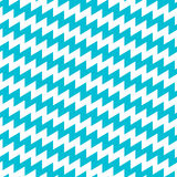 Turquoise and white diagonal chevron seamless pattern Royalty Free Stock Photos
