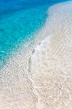 Turquoise and white water. Turquoise and white tropical water at Maldivian island Stock Photo