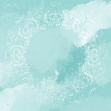 Turquoise and white watercolor decorative background Royalty Free Stock Photo