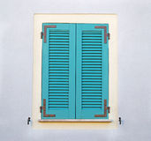 Turquoise window Royalty Free Stock Photo