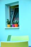 Turquoise Window Stock Image