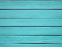 Turquoise Wood background - painted wooden planks for desk table wall or floor Stock Image