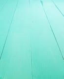 Turquoise wood background Stock Photography