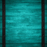 Turquoise wooden background Royalty Free Stock Image