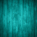 Turquoise wooden background. Or color planks texture Stock Images