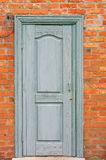 Turquoise wooden doors Royalty Free Stock Photo