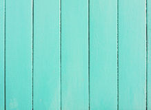 Turquoise wooden planks. As background stock image