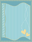Turquoise, yellow and white romantic background Royalty Free Stock Photo
