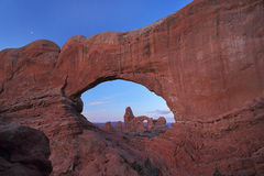 Turrent Arch in Arches National Park Royalty Free Stock Photo