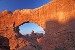 Turrent Arch in Arches National Park Royalty Free Stock Image