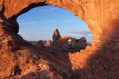 Turrent Arch in Arches National Park Royalty Free Stock Photography