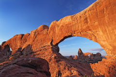 Turrent Arch in Arches National Park Royalty Free Stock Images