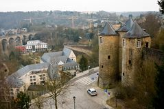 Turrents w Luksemburg obraz royalty free