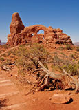 Turret arch. In Arches national park Royalty Free Stock Photo