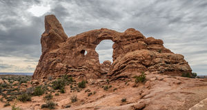 Turret Arch in Arches National Monument, Utah Royalty Free Stock Image