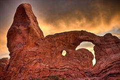 Turret Arch at Arches National Park Royalty Free Stock Photos