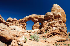 Turret Arch in Arches National Park Royalty Free Stock Image