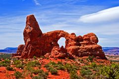 Turret Arch. In Arches National Park, Moab, Utah royalty free stock image