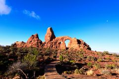 Arches National Park, Turret Arch, Moab,. Turret Arch, Arches National Park, Moab, Utah royalty free stock photo