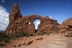 Turret Arch at Arches National Park Moab Utah. Stock Photography