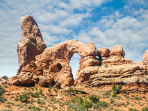 Turret Arch in Arches National Park Royalty Free Stock Photo