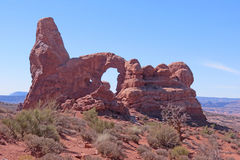 Turret Arch. In Arches National Park, Utah Royalty Free Stock Photography