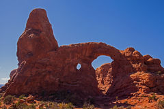 Turret Arch. In Arches National Park. Utah IMG 1955 Royalty Free Stock Image