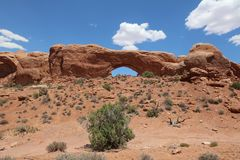 Turret Arch in Arches National Park. Utah. USA Stock Images