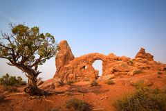 Turret Arch. Arches National Park, Utah, USA royalty free stock images