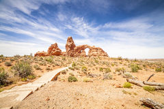 Turret Arch in Arches National Park, Utah Royalty Free Stock Images