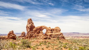 Turret Arch in Arches National Park Royalty Free Stock Photography