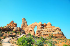 The Turret Arch at the Arches National Park Stock Photos
