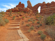 Turret Arch - Arches National Park Stock Images