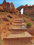 Turret Arch - Arches National Park Stock Photos