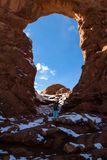 Turret Arch, Arches NP stock photo