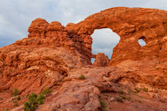 Turret Arch Landscape. Scenic turret arch in Arches National Park Utah royalty free stock photo