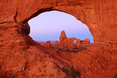 Turret Arch and North Window Arch Royalty Free Stock Images