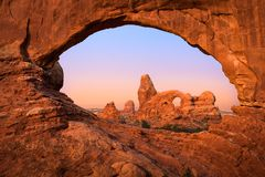Turret Arch Through North Window Royalty Free Stock Images