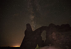 Turret Arch. Surrounded by the Milky Way Royalty Free Stock Image