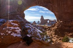 Turret Arch thru North Window royalty free stock image