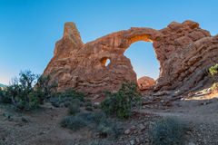 Turret Arch. In the Windows area, Arches National Park Stock Photography