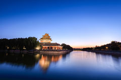 The turret of beijing forbidden city Royalty Free Stock Photos