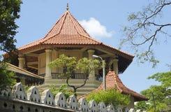 Turret Buddhist monastery in Kandy. Sri Lanka. Turret Buddhist monastery in Kandy.  Asia, Sri Lanka Royalty Free Stock Images