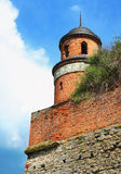 Turret of the castle in Dubno Stock Photography